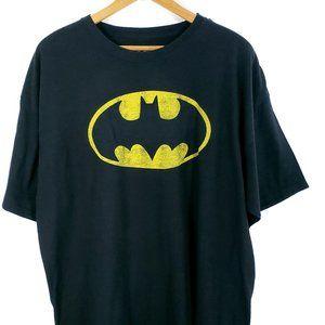 Batman Classic Logo Black Cotton T-Shirt